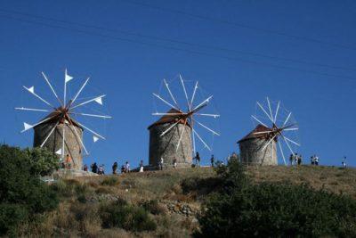 Les moulins à vent de l'île de Patmos Dodécanèse