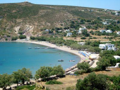 Plage de Campos sur l'île de Patmos Dodécanèse