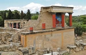 Knossos site archéologique en Crète proche de Heraklion