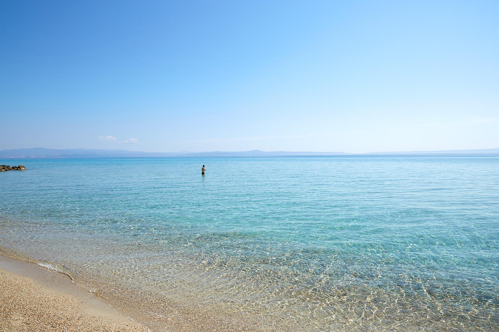 plage devant l'hôtel Ammon Zeus 5étoiles