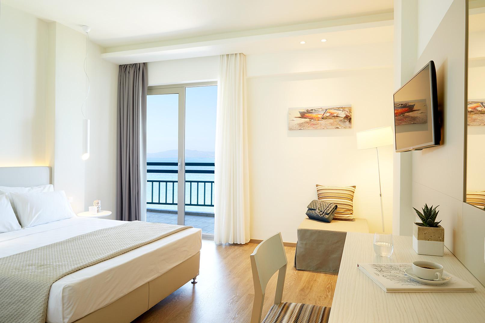 Chambre Double Deluxe vue mer à hôtel Ammon Zeus 5 étoiles