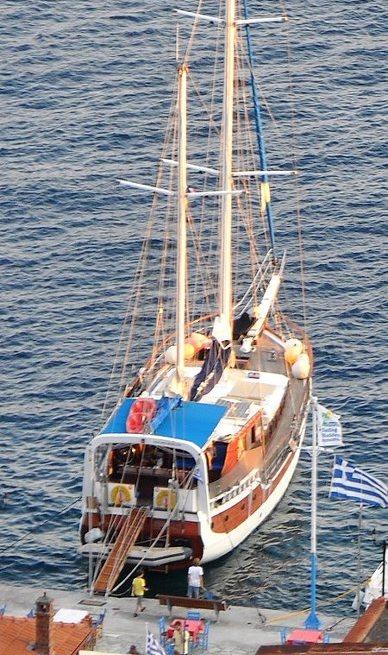 Goélette pour croisières dans les Cyclades Grèce