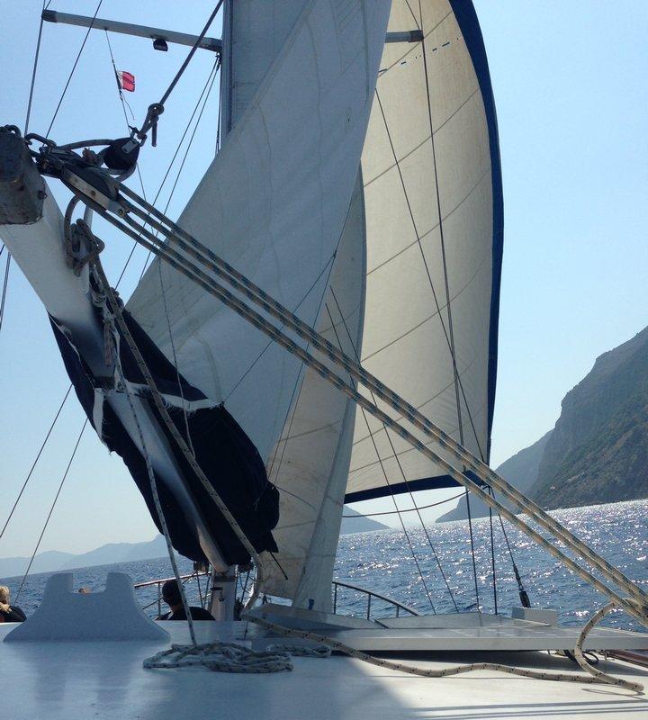 navigation en plein vent dans les îles grecques
