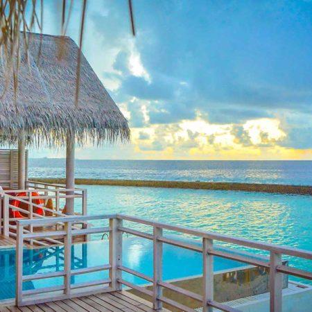 Vue du balcon Villa de plage