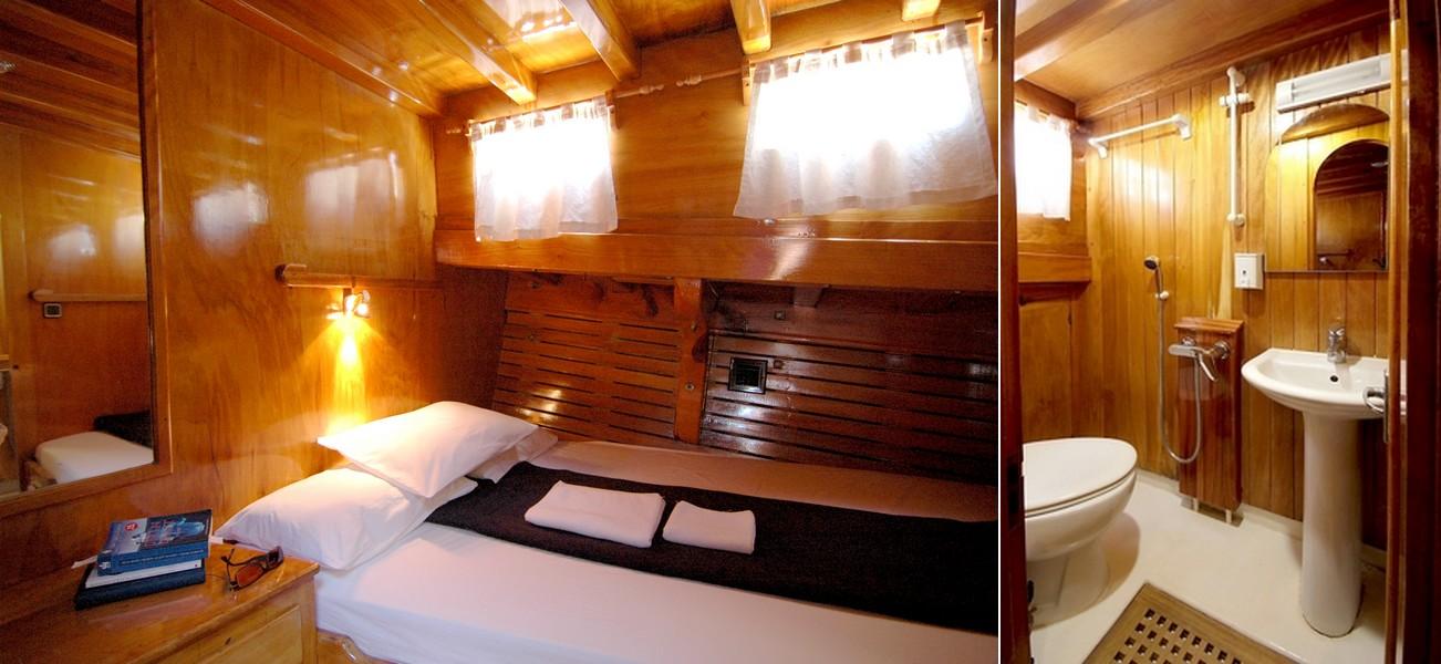 cabine standard plus pour croisière en goélette dans les îles Cyclades