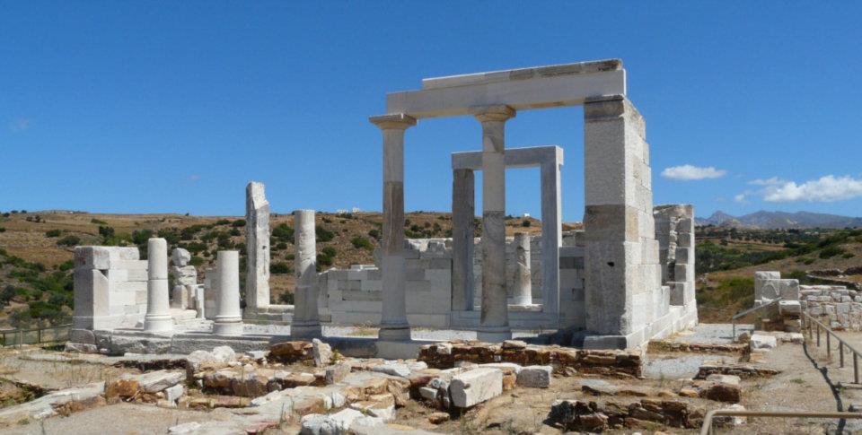 site archéologique Temple de Demeter île de Naxos archipel des Cyclades mer Egée Grèce