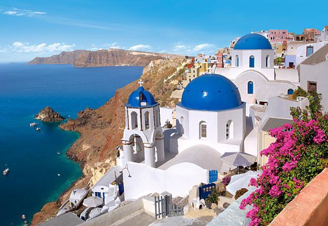 île de Santorin îles Cyclades Grèce