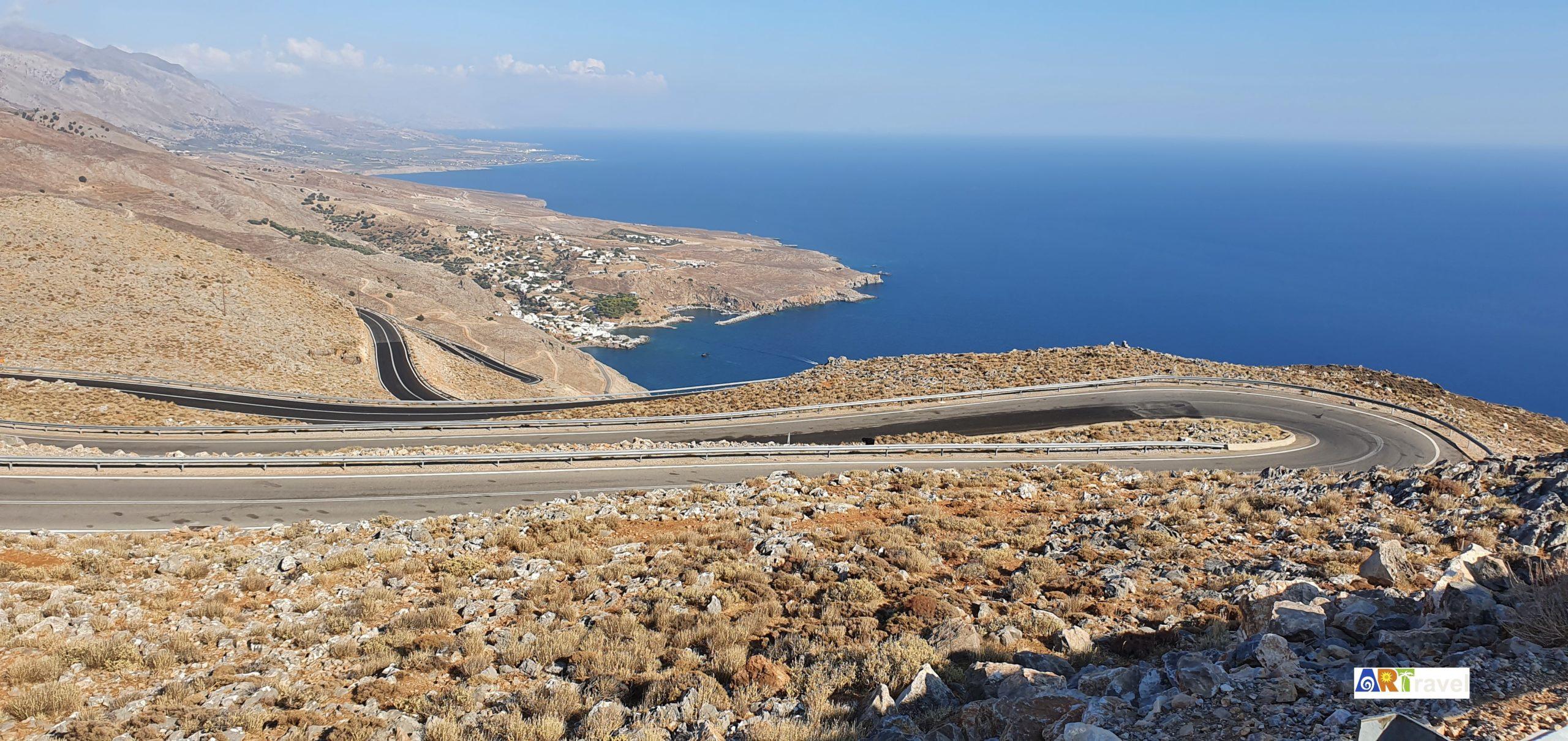 Les virages de la côte sud de l'île de Crète Grèce