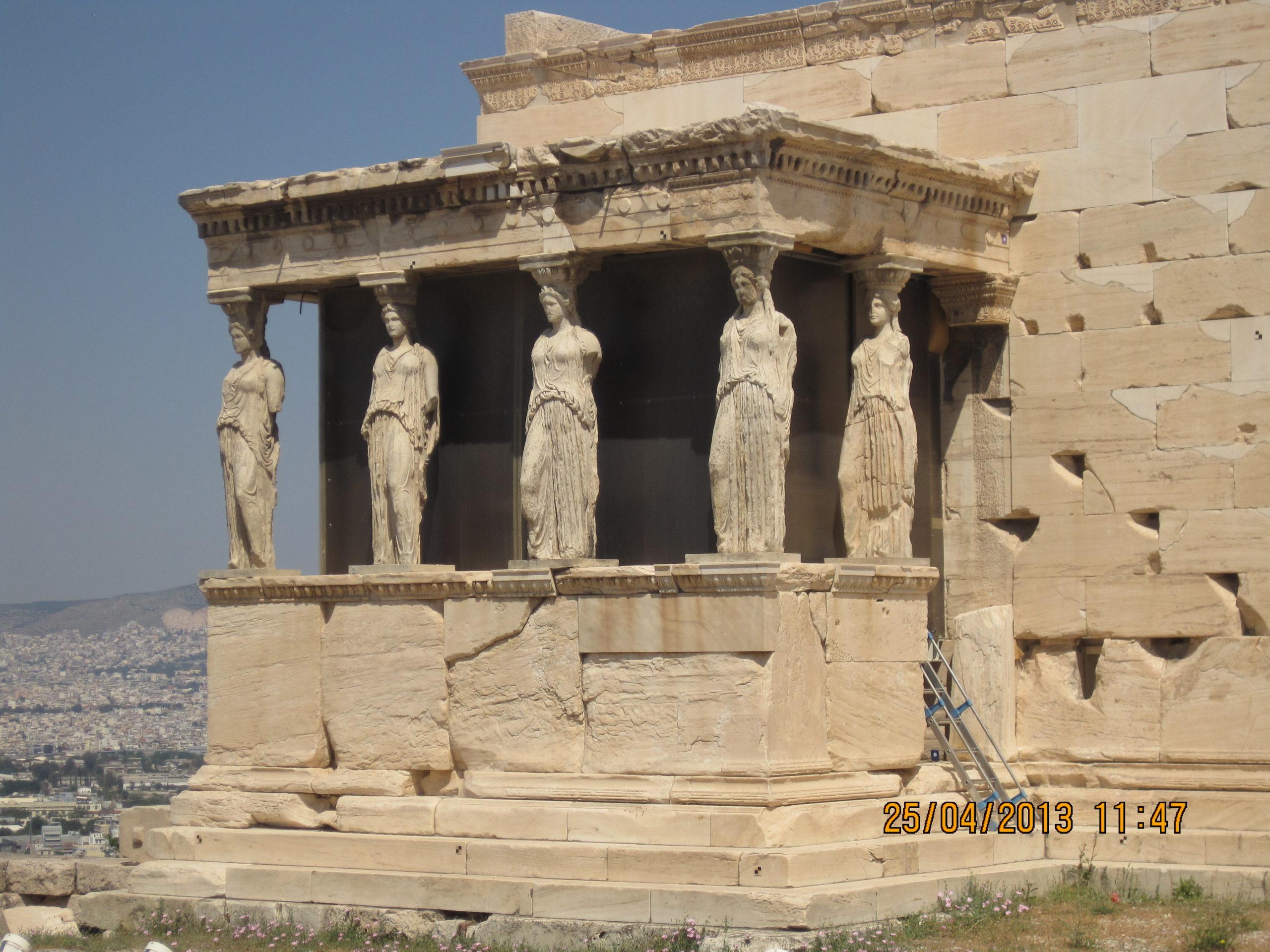 Les Cariatides Acropole Athènes Grèce