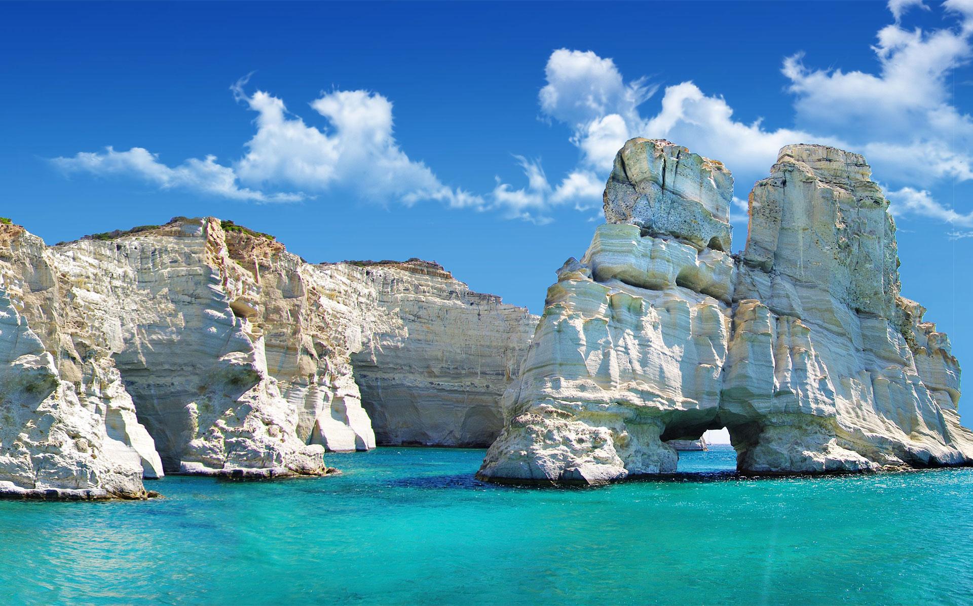 île de Milos Kleftiko îles Cyclades Grèce
