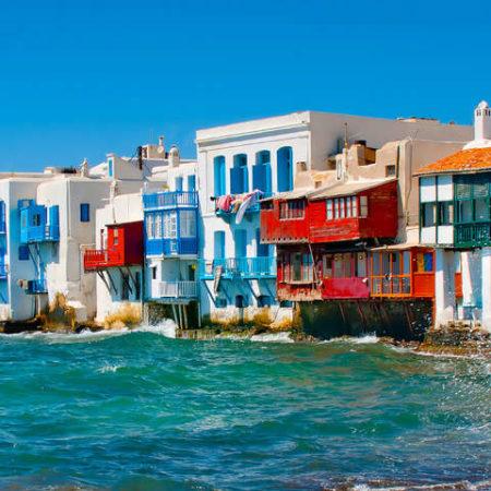Mykonos la petite Venise îles Cyclades Grèce