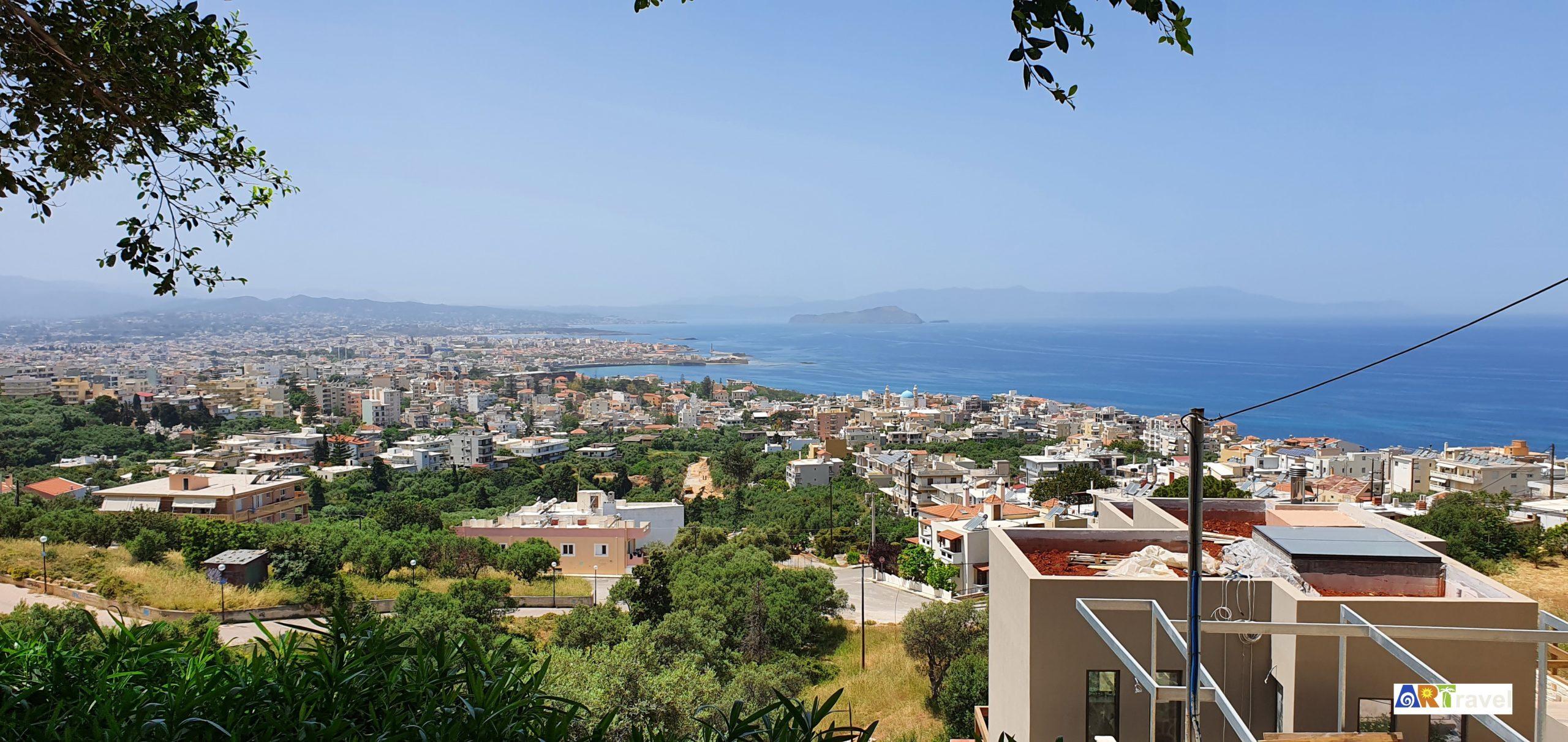 vue panoramique de la Canée 2ème ville de l'île de Crète Grèce